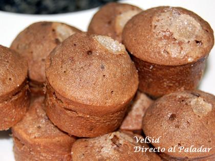 Muffins de chocolate y vainilla. Receta