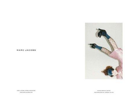 Dios los cría y ellos se juntan... Helena Bonham Carter para Marc Jacobs Otoño-Invierno 2011/2012