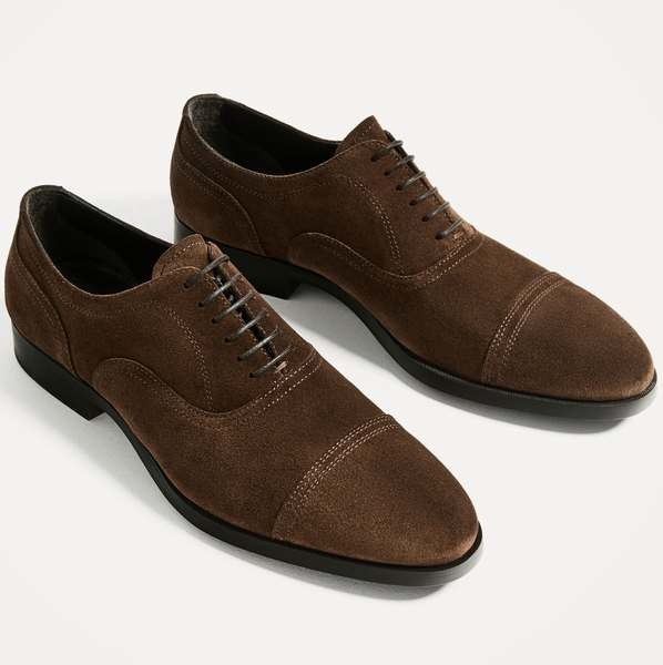 Zapato derby en serraje