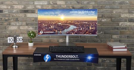 """El monitor QLED, curvo y """"superultrapanorámico"""" de Samsung se actualiza para ser el primero en estrenar Thunderbolt 3"""