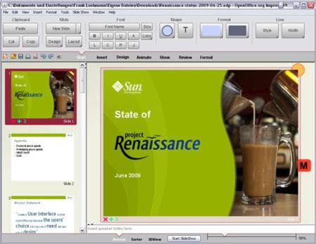 Nueva interfaz para OpenOffice