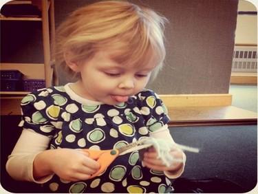 El uso de las tijeras en los niños