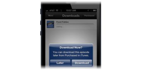 Compra ahora, descarga luego. Nueva opción en la iTunes Store