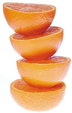 Con dos naranjas al día es suficiente