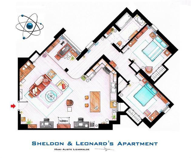 Foto de Planos de apartamentos de series de TV (4/17)