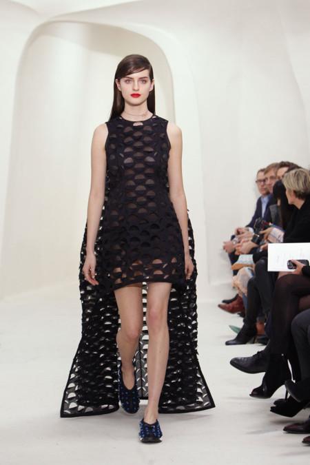 Vestido negro calado Christian Dior Alta Costura Primavera-Verano 2014