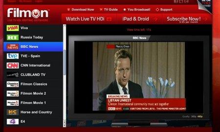 FilmOn, televisión extranjera en streaming