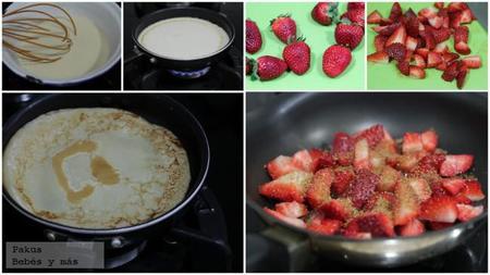 Tortitas Con Fresas Bebes Y Mas