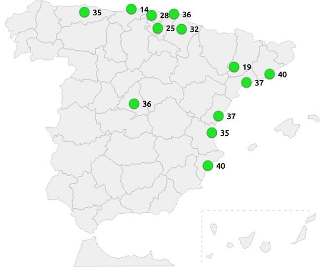 Mapa De Calidad Del Aire En Espana
