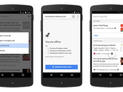 Google Chrome para Android mejora la descarga de páginas web para leer sin conexión