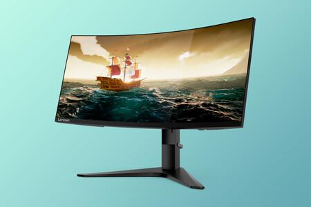 """Ultrapanorámico curvo de 34"""", 144Hz y diseño sin bordes: monitor gaming Lenovo G34w a 399 euros en Amazon"""