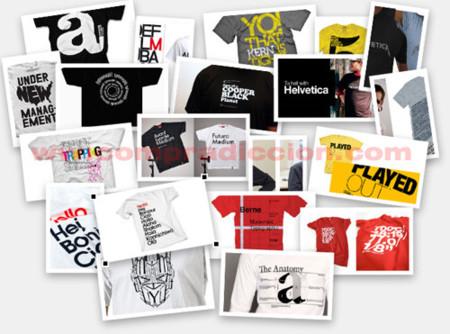 22 camisetas para adictos a la tipografía