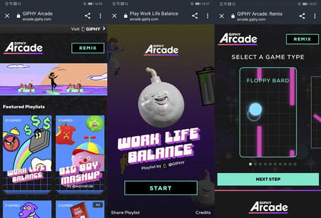 Giphy Arcade Interfaz