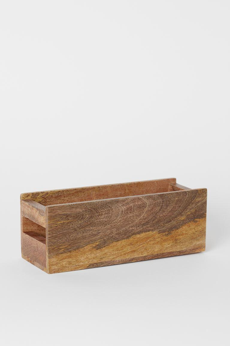 Caja de madera para especias