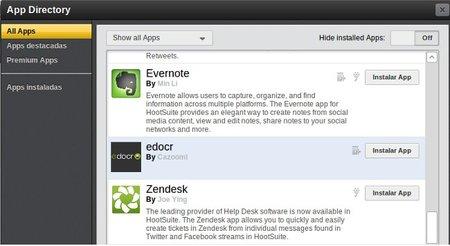 Hootsuite se integra ahora también con Evernote y Zendesk