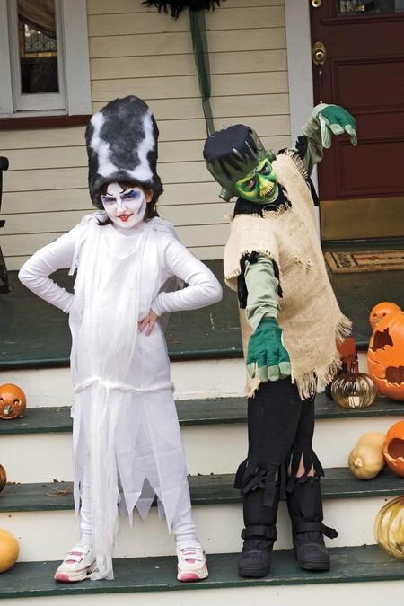 Disfraz Halloween Facil Barato Novia Frankenstein 1