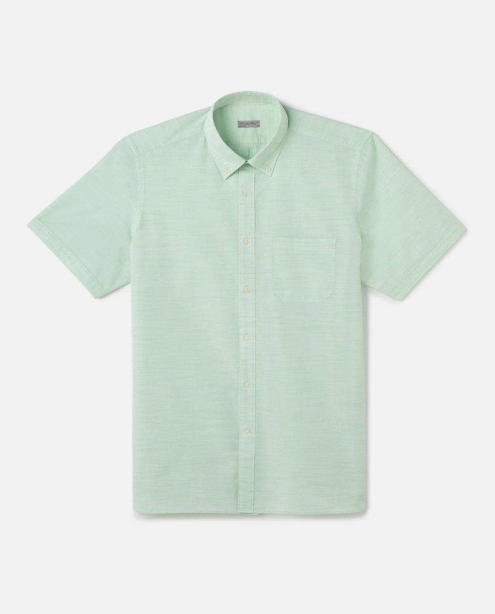 Camisa de hombre classic lisa verde