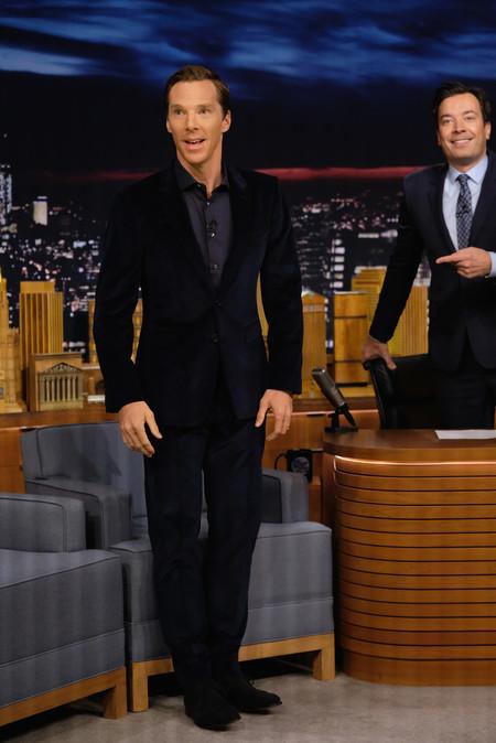 Benedict Cumberbatch Terciopelo Suede Jimmy Fallon Show 2