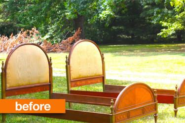Antes y después: unas camas vintage actualizadas