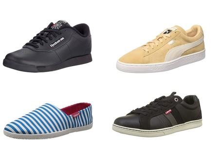 Chollos en tallas sueltas de zapatillas y alpargatas de marcas como Adidas, Reebok, Levi's y Puma en Amazon