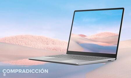 Antes de que acaben los PC Days de PcComponentes te puedes ahorrar casi 250 euros en este portátil con pantalla táctil Microsoft Surface Laptop Go