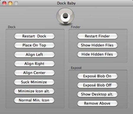 Dock Baby, utilidad para configurar Exposé, Finder y el Dock