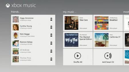 Xbox Music Interfaz
