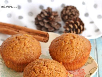 Muffins integrales de calabaza. Receta de otoño