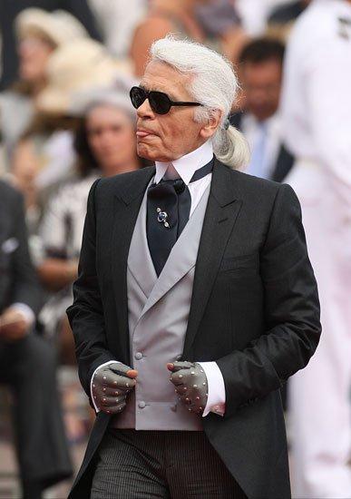 Boda Real en Mónaco: el look de Karl Lagerfeld como invitado a la boda de Alberto de Mónaco y Charlene Wittstock