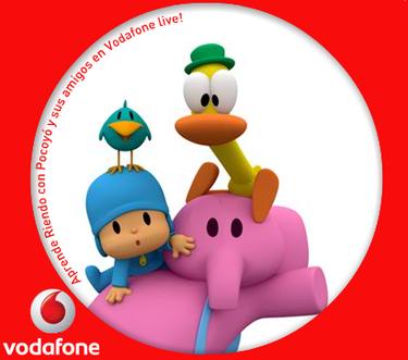 Pocoyó a través del teléfono móvil gracias a Vodafone Live, el primer canal de contenido infantil en España exclusivo para móviles