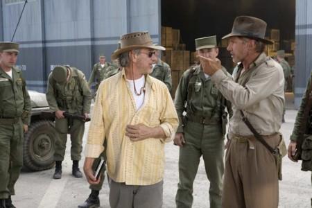 Spielberg y Harrison Ford rodando la última entrega de Indiana Jones