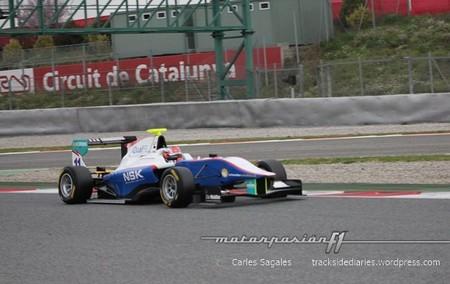 Patric Niederhauser marca el mejor tiempo de las pruebas de la GP3 en Barcelona