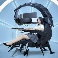 Cluvens IW-SK es el setup gaming definitivo: con forma de escorpión robot gigante, este setup es totalmente ajustable