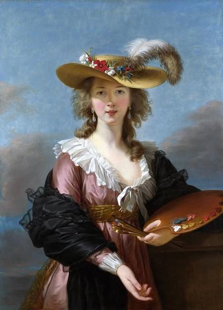 Self Portrait In A Straw Hat By Elisabeth Louise Vigee Lebrun