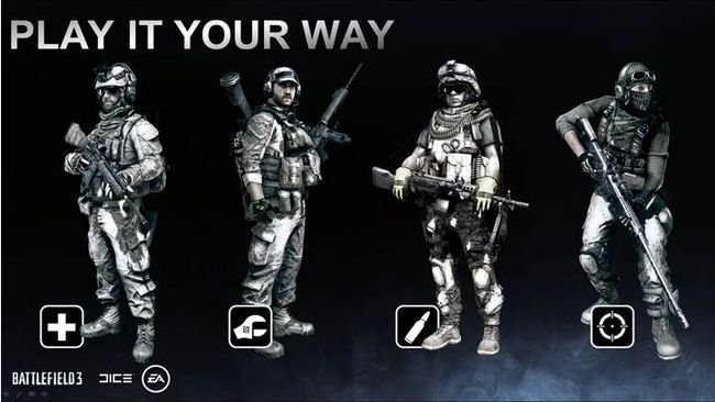 Clases en Battlefield 3