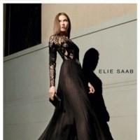 Noches de negro satén en la nueva campaña de Elie Saab