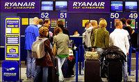 Ryanair eliminará los mostradores de facturación en aeropuertos