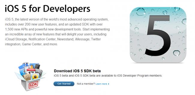 ios 5 SDK Beta para desarrolladores