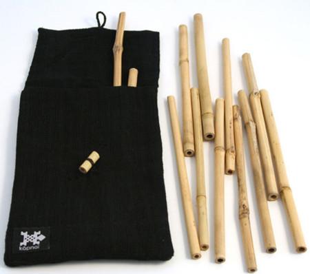 Pajitas reutilizables de bamboo