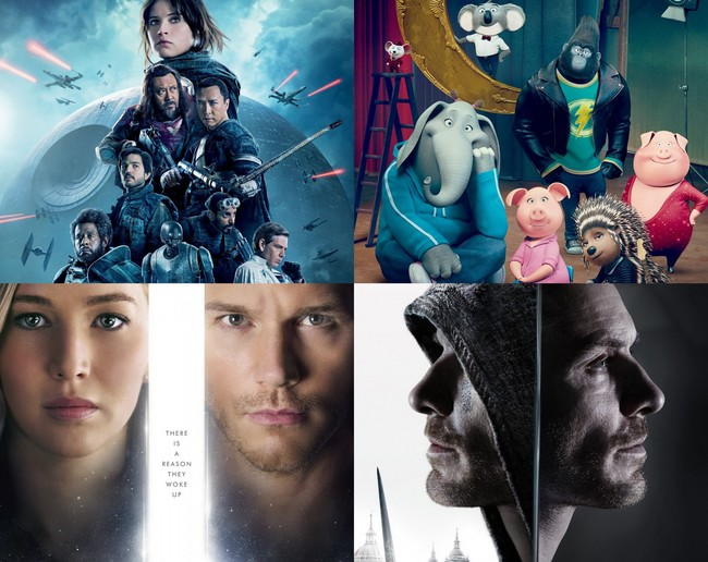 Rogue One, Sing, Passengers y Assassin's Creed