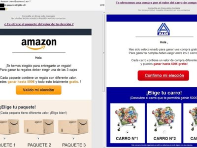 La última estafa en WhatsApp: cupones de Aldi y Amazon