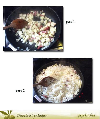 arroz al horno paso 1