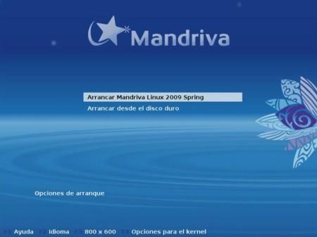 Mandriva Linux 2009 Spring - Arranque desde CD