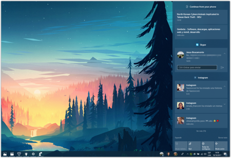 Centro De Actividades Windows 10 Fall Creators Update
