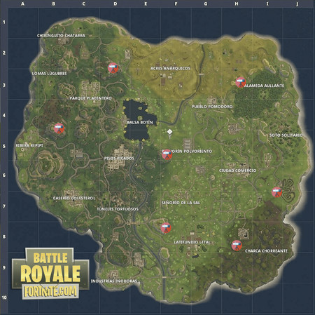 Mapa Telescopios Fortnite
