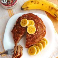 Hot cakes de plátano y canela. Receta