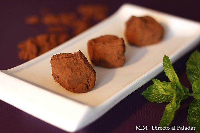 Trufas de chocolate a la menta