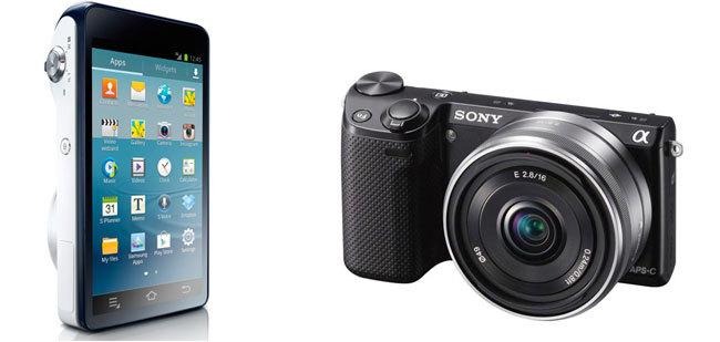 Samsung Galaxy y Sony NEX-5R