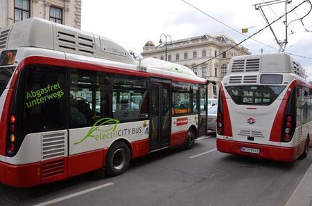 Viena incorpora 12 autobuses eléctricos