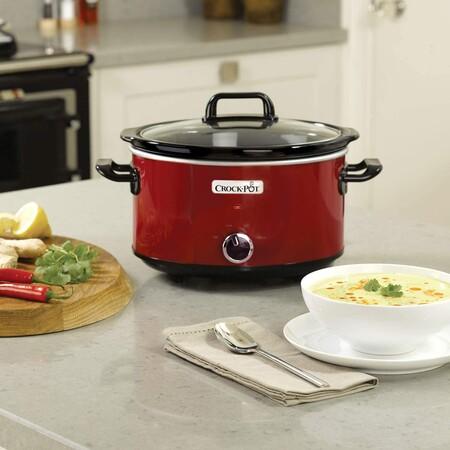 Crock Pot Scv400rd Olla De Coccion Lenta Manual Para Preparar Multitud De Recetas 210 W 3 5 Litros Acero Inoxidable Rojo